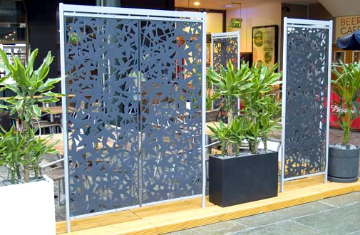 More outdoor screens the living blog for Garden screening ideas